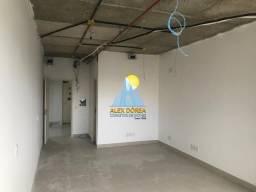 Sala comercial para aluguel na avenida paralela, 33,5 m², no condomínio wall street ao lad