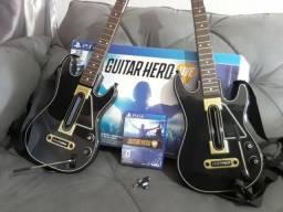 Guitarras p/ PS4 + Guitar Hero (mídia física)