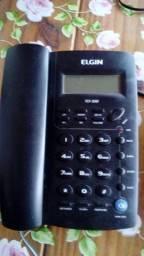 Telefone Elgin preto com viva voz