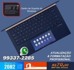 Notebook Nossos Valores: Formatação Limpa sem BKP R$70,00 Com BKP R$100,00