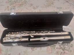 Flauta transversal Eagle banhada a prata FL03S