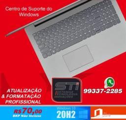Notebook Formatação Windows10 R$70,00 S/BKP? Entrega em 24h