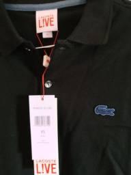 Camisa polo Lacoste Live preta xs original