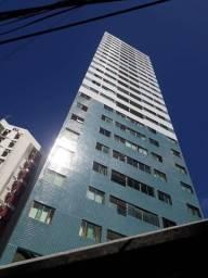 JG.079 - Alugo flat em Boa Viagem, 35m², quarto/sala, móveis fixos e lazer
