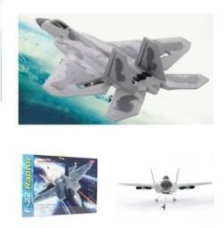 Avião Caça Controle Remoto Jato F-22 Raptor Epp