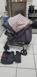 Carrinho de bebê + bebê conforto com adaptador para carro