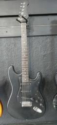 Guitarra Eagle preta fosca
