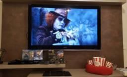 "TV Sony Bravia 52"" 3D Raridade+BlueRay Player 3D Sony (04 óculos 3D)+03 filmes 3D"
