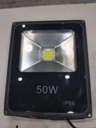 Refletor 50w Led Branco Brio Semi Novo Só Chip Trocado Garantia 3 Meses
