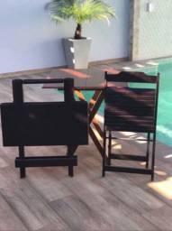 Cadeira de Madeira Dobrável Reforçada