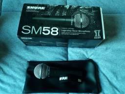Microfone Shure SM58 Dinâmico Cardióide