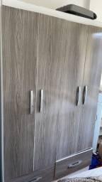 Título do anúncio: Roupeiro 4 portas branco e cinza