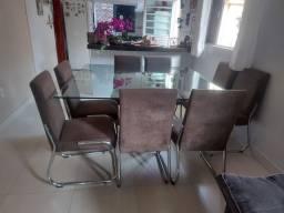 Título do anúncio: Mesa de jantar 8 cadeiras