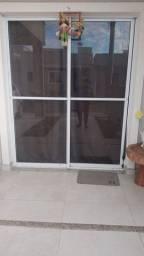 Porta de vidro e alumìnio zero bala