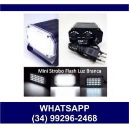 Título do anúncio:  Mini Strobo Flash Branco Jogo de Luz Boate