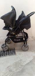 Título do anúncio: Carrinho e bebê conforto da burigotto