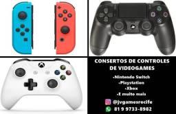 Conserto de controles de videogame