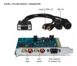 Interface de áudio audiofile 2496