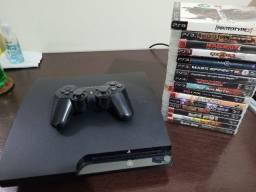 Console Playstation 3 PS3 + Jogos (Troco por Xbox One)