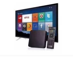 Título do anúncio: Midia TV Box Android 8 de ram/ 128gb Transforme sua TV em uma Smart Tv Promoção