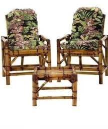 Cadeiras de bambu direto da fábrica