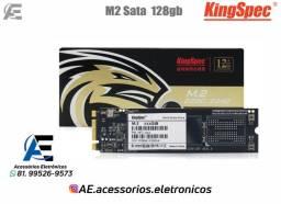 Título do anúncio: SSD M.2 128gb, 256gb e 512gb Sata - KingSpec - Entregamos e Aceitamos Cartões