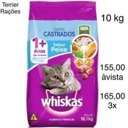 Ração Whiskas PEIXE Gatos Castrados 10 kg