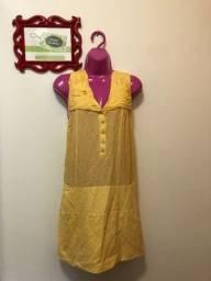 Vestido amarelo Cris Barros