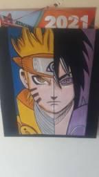 Vendo,  quadro de anime com colar mangekyo sharingan