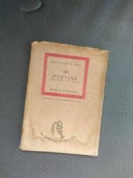 Livro Raro Carlos drummond  de Andrade  Com dedicatória  do autor -