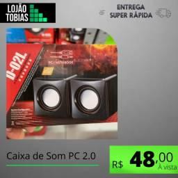 Título do anúncio: Caixa de Som PC 2.0 - Multimedia Mini Digital Speaker