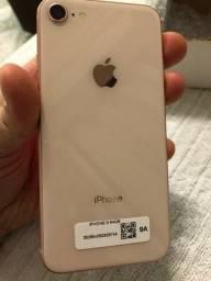 Promoção! iPhone 8 perfeito, lindo, dourado, com nota fiscal