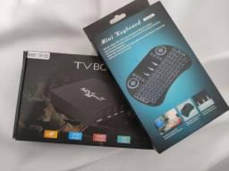 Tv Box 4k! Transforme sua TV em Smart TV..Até 499 canais