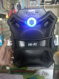 Caixa de som Bluetooth amplificada controle alça para transporte