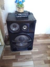 Caixa da sony c/ amplificador