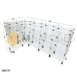 Balcão de Vidro em *L - 2,00 X 1,10 X 0,30