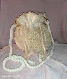 Bolsa de Crochê na cor Nude coleção Vogue