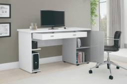 escrivaninha escrivania Branca mega promoçao