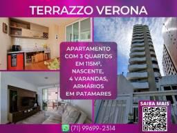 Título do anúncio: Terrazzo Verona, 3 quartos em 115m² com 2 vagas de garagem em Patamares - Surreal