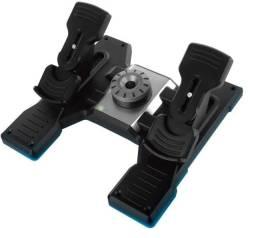 Pedal Logitech Saitek Flight Rudder Pedals Original