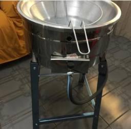 Feitadeira, Pasteleira, Batateira em Inox à Gás 5 Litros/ Aceito Cartão