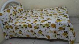 Lençol de cama casal com as duas fronhas 100% algodão