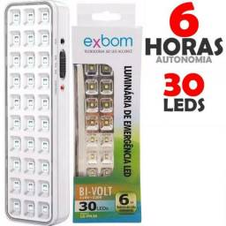 Luminária de emergência com 30 leds com bateria de lítio - Elgin