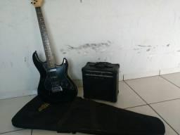 Guitarra strinberg com caixa de som 19 wats