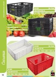 Caixa plastica para hortifruti - caixa plastica vazada - caixa para fruta 6424