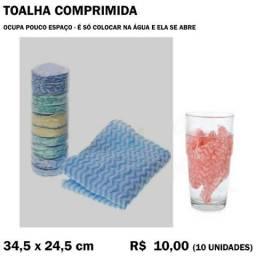 Título do anúncio: Toalha Comprimida (10 Unidades)