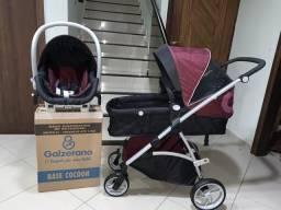 Travel system 3 em 1 Dzieco Maly com Bb conforto e base (base nova sem uso)