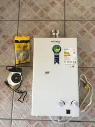 Kit Aquecedor de Agua (Junker) + Mini Pressurizador + Valvula Gas 2kg