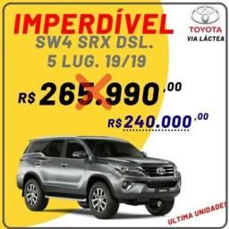 Toyota SW4 SRX 4X4 Diesel 5 lug. Aut. 19/19 Prata Zero Km / Ultima Unidade - 2019