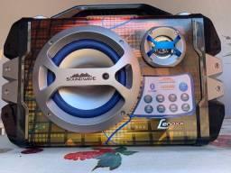 Caixa De Som Amplificadora Lenoxx Ca 325 100w Bluetooth Usb